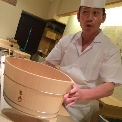 寿司吉乃 ひのきのシャンパンクーラー